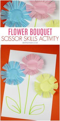 Easy Flower Scissor Skills Activityscissor skills preschool flowers easy 40 Pretty Paper Flower Crafts, Tutorials & Ideas What could be more lovely. Kids Crafts, Spring Crafts For Kids, Summer Crafts, Toddler Crafts, Art For Kids, Diy And Crafts, Craft Projects, Arts And Crafts, Craft Ideas