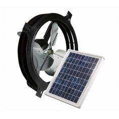 Air Vent 53560 Solar Power Gable Attic Ventilator Fan 800 CFM up to 1200 sq ft Attic Vent Fan, Attic Vents, Solar Attic Fan, Solar Fan, Gable Vents, Solar Roof, Solar Projects, Best Solar Panels, Solar House