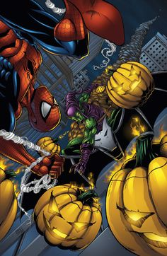Spider-man vs Green Goblin colors by ~seanforney on deviantART