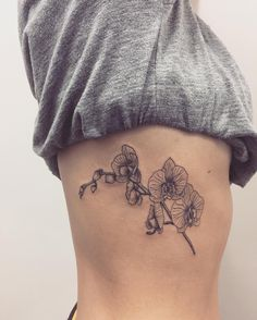 Orchidee floralen orchideen hand gezeichnet illustration flowerpaintings tattoo ideen - Orchideen tattoo vorlage ...