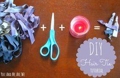DIY Hair Ties via You And Me Are We #diy #hairties #diybeauty