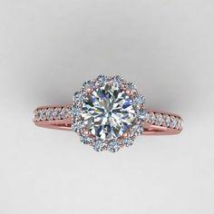 Rose diamond wedding ring - Wedding inspirations