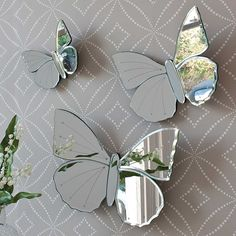 Mirrors Spiegel Vintage Schlafzimmer Ideen Inspecting Your Chimney And Its Liners Article Body: If y Butterfly Bathroom, Butterfly Nursery, Butterfly Wall, Room Decor Bedroom, Girls Bedroom, Bedroom Ideas, Bedroom Inspiration, Bedrooms, Living Room Mirrors