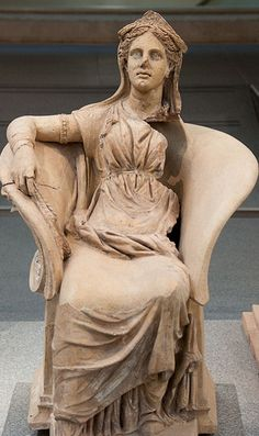Statue of Demeter, made out of clay