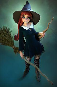Witch, Steve James on ArtStation at https://www.artstation.com/artwork/0W2ae
