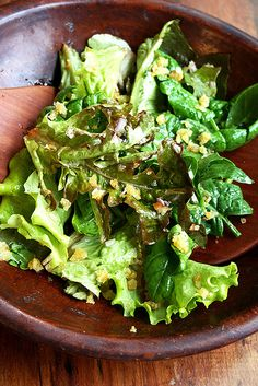greens with toasted breadcrumbs and citrus vinaigrette