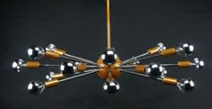 Sputnik Atomic Chandelier Light Lamp Starburst 50 60's Mid Century Modern Eames