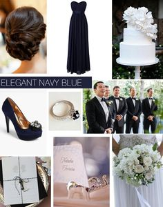 Elegant navy blue