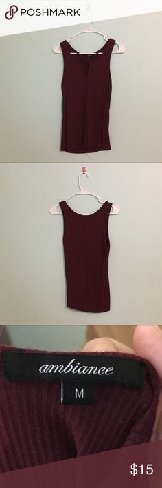 Maroon cut out top Cute go out top!! Worn once only, no flaws Women size medium, purchased from Joyce Leslie  *** MOVE OUT SALE  I'm moving out by the end of this month so everything must go or will be donated!!  Reasonable Price is negotiable :)  Just comment/message me !!!  Bundle my items to save up for discount Ambiance Apparel Tops Sweatshirts & Hoodies