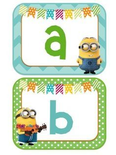 MINION THEMED WORD WALL (HIGH FREQUENCY WORDS INCLUDED!) - TeachersPayTeachers.com
