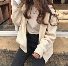- cloudy𝕩heart uploaded by 𝓶𝓪𝓻𝓲𝓪𝓷𝓪 on We Heart It korean fashion Korean Outfits, Mode Outfits, Fall Outfits, Casual Outfits, Fashion Outfits, Womens Fashion, Fashion Clothes, Fashion Ideas, Summer Outfits