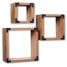 Threshold™ Wall Cube set of 3 - Brown