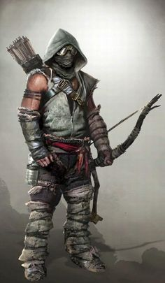 Concept art of an unnamed playable exclusive character for Tomb Raider (2013)