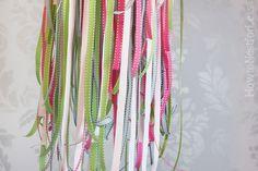 colorful ribbon mobile
