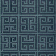 Greek Key Wallpaper by Schumacher, available in our online shop Ethnic Chic - Home Couture #trellis