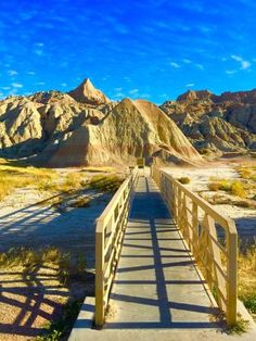View from the top of the overlook mound - Picture of Yellow Mounds Overlook, Badlands National Park - Tripadvisor Badlands National Park, National Parks, Park Pictures, South Dakota, Garden Bridge, Acre, Trip Advisor, United States, Outdoor Structures