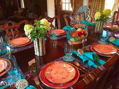 Tablescape Tuesday: Paisley & Peacocks | Everyday Living