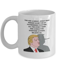 Republican Dad Mug, Funny Father Gift Cup, 11oz White Ceramic Coffee, Tea Cup,  #Unbranded
