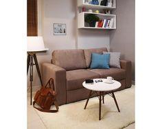 """Прямой раскладной  коричневый диван """"Luma"""""""
