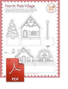 North Pole Village Cutouts
