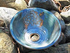 Pottery Turtle Sink Basin wheel thrown