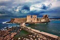 Ancient Fortress of Methoni Ancient Fortress of Methoni- Peloponnese, Greece Methoni is a village and a former municipality in Messenia, Pel. Greek Castle, Places In Greece, Great Photos, Beautiful Places, Amazing Places, The Good Place, Tourism, Places To Visit, Around The Worlds