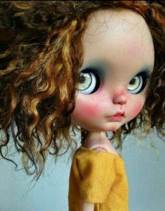 Cutie of the Day  by Tiina Check all Blythe Doll Customizers at www.dollycustom.com