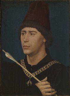 Rogier van der Weyden. Portrait d'Antoine de Bourgogne. Bruxelles, Musées royaux des Beaux-Arts de Belgique