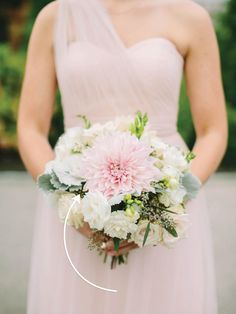 Dahlias come in all shapes, sizes and colors, making it easy to incorporate them into various wedding bouquets.
