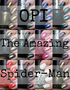 OPI The Amazing Spider-Man collection -Click Thru for Swatches and Review!