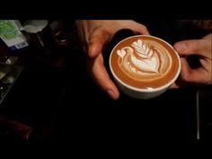 ゴン太のラテアート 8oz latte art - YouTube