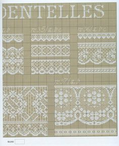 ru / Фото - Anne Van Damme - Dentelles et Rubans - velvetstreak Cross Stitch Borders, Cross Stitch Flowers, Counted Cross Stitch Patterns, Cross Stitch Charts, Cross Stitching, Lace Embroidery, Cross Stitch Embroidery, Embroidery Patterns, Blackwork