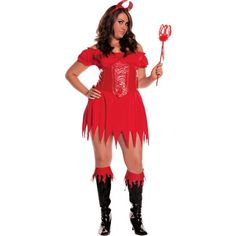 Adult Sexy Devil Costume Plus Size