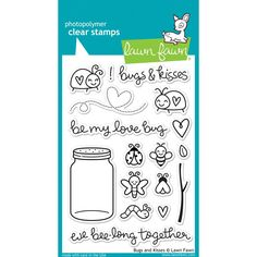 Lawn Fawn Bugs & Kisses Stamps