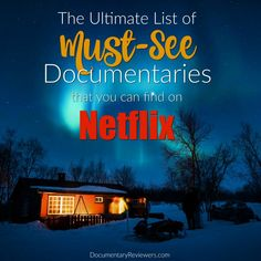 Nov 2018 - Without a doubt, these are the best documentaries on Netflix that you can watch right now! Hopefully you've cleared your weekend because you won't be able to get enough of these must-watch flicks. Netflix Shows To Watch, Good Movies On Netflix, Movies To Watch, Movies Online, Netflix Gift, Funny Movies, Best Documentaries On Netflix, Netflix Documentaries, Family Movie Night