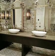 Image result for mirror tiles in bathroom