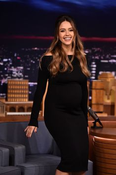 Jessica Alba visits 'The Tonight Show Starring Jimmy Fallon.'