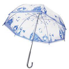 Disney Japan Princess Cinderella Clear Blue Transparent Plastic Umbrella Parasol #Disney #Parasol