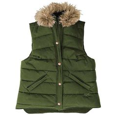 Stormy Kromer Women's Highland Vest ($180) ❤ liked on Polyvore featuring outerwear, vests, olive, quilted vest, vest waistcoat, army green vest, green waistcoat and green military vest