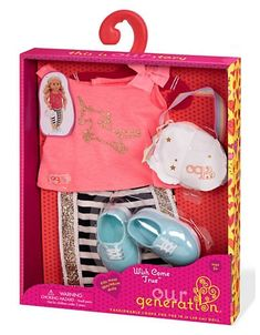 Our Generation Doll Outfit Playset - Silver Cosas American Girl, All American Girl Dolls, American Girl Clothes, Baby Doll Nursery, Baby Girl Toys, Toys For Girls, My Life Doll Clothes, Baby Born Clothes, My Life Doll Stuff