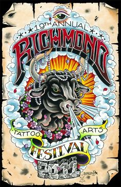 Richmond Tattoo Arts Festival Jesse Smith and Kenny Brown continue the legacy of one of the oldest tattoo conventions in the world! Sept Hosting a spectacular lineup of tattoo artists C Tattoo, Tattoo Expo, Tattoo Shows, Tattoo Flash, Old Tattoos, Pin Up Tattoos, Chris Ware, Tattoo Posters, Old Scool