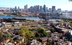 View of Boston from the top of the Bunker Hill Monument