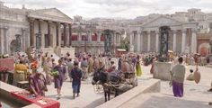 Image result for ancient roman market street scene