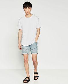 Imagen 2 de BERMUDA DENIM CORDÓN de Zara Zara, Random Things, Bermuda Shorts, Mens Fashion, Denim, Image, Mens Tops, T Shirt, Bermudas