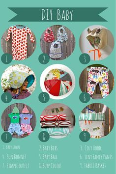 Sewing for Baby - 20+ free patterns and tutorials make clothes, toys, and more for baby