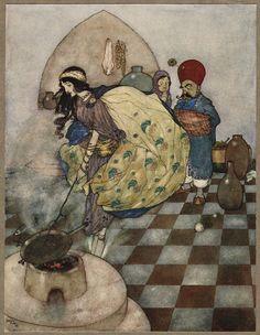 Сказочные иллюстрации к книге Тысяча и одна ночь Иллюстрации Эдмунда Дюлака.