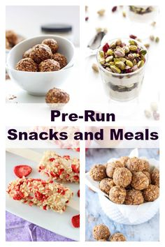 Pre-Run Snacks and Meals | Snack and meal ideas to keep runners fueled during workouts! | @reciperunner