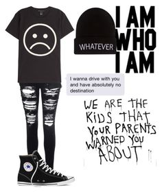 """""""This is me"""" by wish-and-dream ❤ liked on Polyvore featuring Glamorous, Marc by Marc Jacobs, Converse and Wet Seal"""