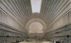 Étienne-Louis Boullée's unbuilt Royal Library (1785)