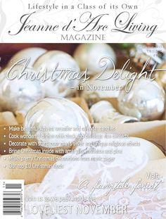 French Christmas, Pre Christmas, Christmas Decor, Jeanne D'arc Living, Music Paper, Dessert Decoration, Living Magazine, French Vanilla, Mistletoe